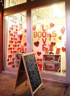 Creative Window Displays Book Stores | Valentine's Day display window at Burke's Book Store in Memphis ...