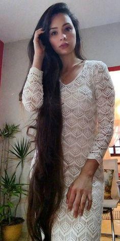 Long Brown Hair, Dark Hair, Long Indian Hair, Rapunzel Hair, Loose Hairstyles, Beautiful Hairstyles, Super Long Hair, Cut My Hair, Silky Hair