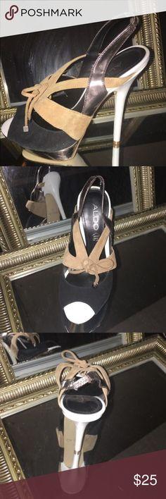 Heels Black, white & camel ALDO heels ALDO Shoes Heels