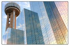 dallas Skyline | Reunion Tower Hyatt Regency Hotel Dallas Texas Landmark Wolfgang Puck ...