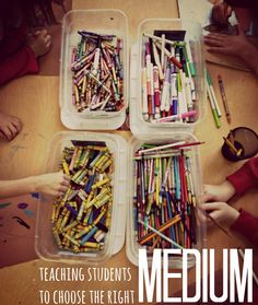 teaching students to choose the right medium