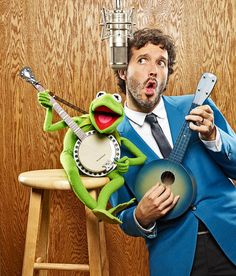 Flight of the Conchords Bret & Kermit!