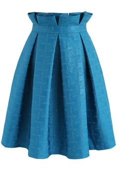 Lasting Delight Pleated A-line Skirt in Blue - New Arrivals - Retro, Indie and Unique Fashion