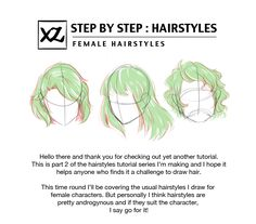 How to Draw : Hairstyles Pt. 2 Finally sat down and completed part 2 of the hair tutorial. Here I discuss how to draw hairstyles for female characters, although I think it can be applied for male characters as well. I mean..hair is hair xD I didn't...