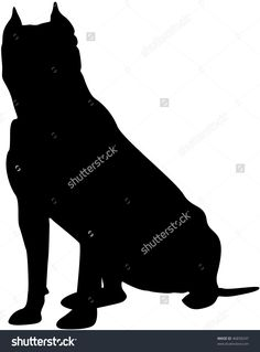 pitbull silhouette - Google Search