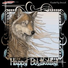 Wolf- Happy Birthday- Photo: This Photo was uploaded by pegelsmac. Find other Wolf- Happy Birthday- pictures and photos or upload your own with Photobuc. Happy Birthday Wolf, Happy Birthday Emoji, Cool Happy Birthday Images, Happy 20th Birthday, Birthday Greetings, Birthday Stuff, Birthday Ideas, Wolf Images, Wolf Pictures