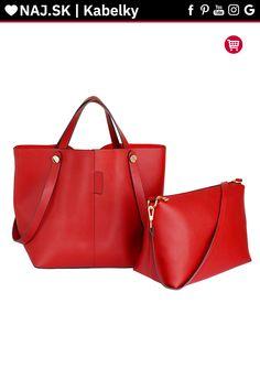 Trendy kabelka Netty červená AG00198 Trendy, Shopper Bag, David Jones, Zara, Shoulder, Fashion, Moda, Fashion Styles, Fashion Illustrations