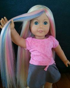 Custom American girl doll wig by ZazouCustomDolls on Etsy