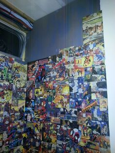 Comic book shower cubicle :-)