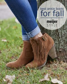 It wouldn't be fall without a fresh pair of ankle boots. From fringe to moto-chic and everything in between, these are our favorite fall booties. #MeijerStyle