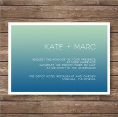 Printable Gradient Sky Wedding Invitation Suite