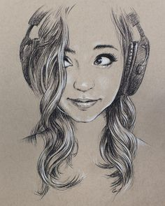 Drawing of #ASMR artist @gibiofficial  TYSM for amazingly relaxing sounds!! #portrait #art #charcoalpencil #sketch #drawing