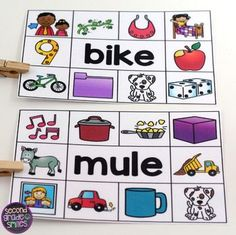 Read and Clip Cards Early Finishers Activities, Word Work Centers, Teaching Phonics, Second Grade, Student, Year 2, Math, Reading, Cards
