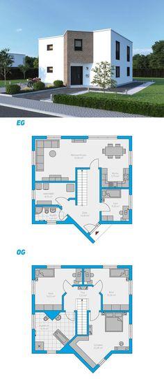 Häuser Alea 153 - turnkey solid house house # ingutenw walls # # floor p Sims 4 House Plans, Dream House Plans, Modern House Plans, Small House Plans, House Floor Plans, Sims Building, Building A House, Building Design Plan, Sims 4 House Design