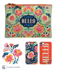 Hello Floral on Behance // Clairice Gifford