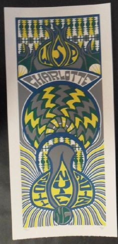 Original silkscreen concert poster for Widespread Panic at The TIME WARNER CABLE ARENA in Charlotte, NC on New Years Eve in 2011. It is printed on Watercolor Paper with Acrylic Inks and measures around 10 x 22 inches.  Print is signed and numbered out of only 120 by the artist Tripp.