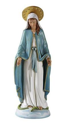 Madonna Our Lady of Grace Statue inspired by sister MI Hummel's original designs. Lovely lady in blue figure is sure to bring peace andspiritualinspiration to