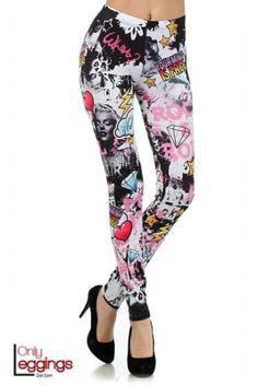 Hollywood Marilyn Leggings.  #onlyleggings #leggings #print #marilyn #monroe