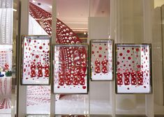 Fashion brand Louis Vuitton has collaborated with Japanese artist Yayoi Kusamato create a collection of garments featuring Kusama's obsessional #polkadot patterns for a concept store at Selfridges department store in London.
