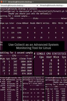 Use Collectl as an Advanced System Monitoring Tool for Linux - Make Tech Easier Cool Technology, Computer Technology, Computer Programming, Energy Technology, Computer Science, Computer Setup, Computer Tips, Linux Operating System, Computers