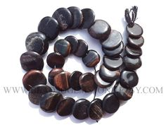 Semiprecious Beads, Black Tiger Eye Smooth Disc (Quality B) / 14 to 19 mm / 36 cm / TIGE-019 by beadsogemstone on Etsy #blackbeads #tigereyebeads #discbeads #gemstonebeads #semipreciousstones #semipreciousbeads #briolettes #jewelrymaking #craftsupplies #beadsofgemstone #stones #beads