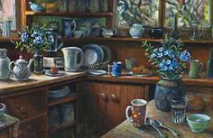 Artwork by Margaret Olley, PLUMBAGO, Made of oil on composition board Australian Painters, Australian Artists, Visual And Performing Arts, Art Auction, Artist Art, All Art, Still Life, Art Gallery, Paintings