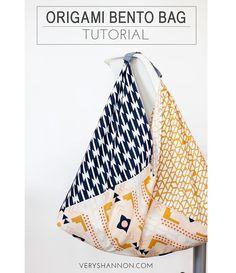 Tutorial: Origami Bento Bag