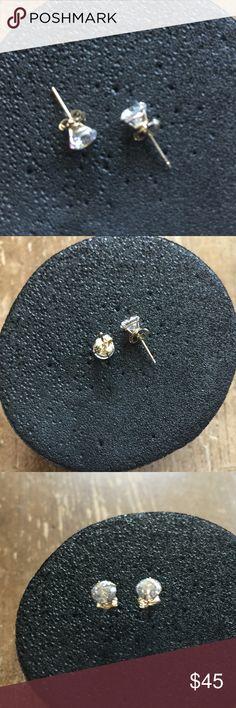14K  Gold 1.00 CTTW Cubic Zirconia Stud Earring❤️ 14K Gold 1.00 CTTW Cubic Zirconia Round Stud Earring 5mm new Jewelry Earrings