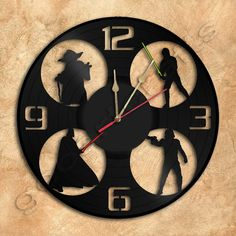 Wall Clock Star Wars Vinyl Record Clock Upcycled Gift Idea