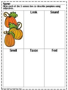 ADJECTIVE FALL THEMED PACK - TeachersPayTeachers.com