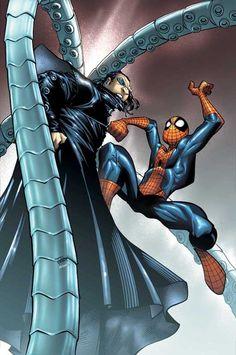 Spider-Man vs Dr Octopus by Humberto Ramos