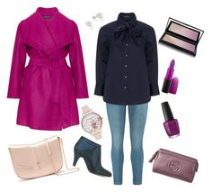 """""""Plus Size Pinky Pink Outfit"""" by marjolaineetvous on Polyvore featuring mode, OPI, Kevyn Aucoin, Gucci, MAC Cosmetics, Olivia Burton et Ted Baker"""