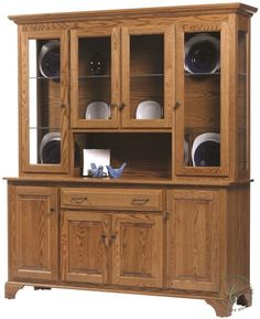 Traditional in every way, our Westland Large China Hutch has a place for everything. Choose your wood and stain to get started on one for your home.