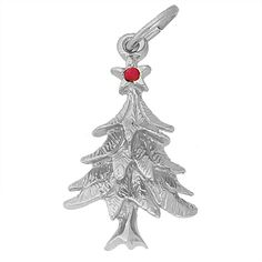 Christmas Tree Charm $27.50 https://www.charmnjewelry.com/category/sterling_silver/Holiday_Charms.htm #HolidayCharm