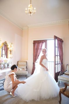 Lazaro dress on real bride 2 Love this dress! The skirt is amazing  has the detail I adore