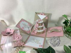 Magic BOX Explosionsbox Geldgeschenk ZUR Hochzeit Rosa Stampin' UP Handarbeit | eBay
