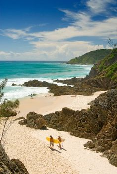 The perfect surf beach: The Pass, Byron Bay, as viewed from the lookout. Byron Bay, Pacific Ocean, Australia Travel, Continents, Worlds Largest, Places Ive Been, Surfing, Places To Visit, Coast