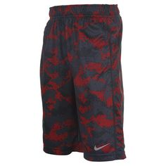 Boys' Nike Fly Graphic Training Shorts | FinishLine.com | Gym Red/Matte Silver