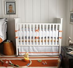 Jaunty crib bedding from our Nursery Style book (photo by Wendi Nordeck). #serenaandlily