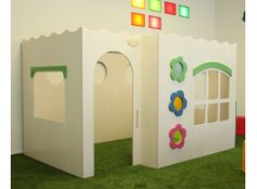 Make it in pieces so it can be put up and down easily Kids Indoor Playhouse, Daycare Spaces, Classroom Decor Themes, Church Nursery, Dream Decor, Nursery Themes, Kids House, Play Houses, Kids Playing