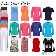 Spring Tops & Pants - I like most of these; not the one with the zipper though!