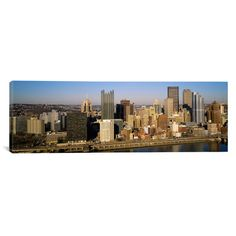 """East Urban Home Panoramic Pittsburgh, Pennsylvania Photographic Print on Canvas Size: 16"""" H x 48"""" W x 1.5"""" D"""