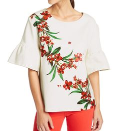 MARKS & SPENCER COLLECTION Cotton Rich Flared Sleeve T-Shirt T41/4981F.  UK16 EUR44  MRRP: £15.00GBP - AVI Price: £9.00GBP