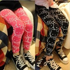 Harajuku style.  Hello Kitty leggings!