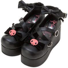 Kuromi Pumps Shoes L Lolita Fashion Kawaii Sanrio f/s Japan New! Pumps, Pump Shoes, Shoe Boots, Platform Shoes, Kawaii Shoes, Kawaii Clothes, Aesthetic Shoes, Aesthetic Clothes, Lolita Mode
