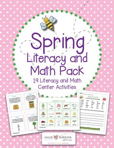 Your students will love these colorful and fun Spring Literacy and Math ideas! This pack includes 19 centers and activities!
