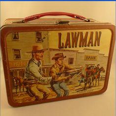 1961 Lawman Metal Lunch Box