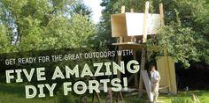 5 Fantastic DIY Forts!   Inhabitots