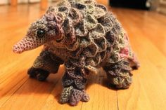 "leahjayart: "" It's a crocheted pangolin, everyone. I repeat, A CROCHETED PANGOLIN. """