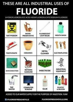 These are the industrial uses of Fluoride. WHY are you still drinking it?